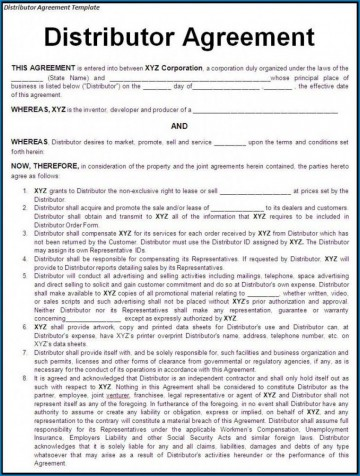 000 Stunning Exclusive Distribution Agreement Template Free Download High Definition 360