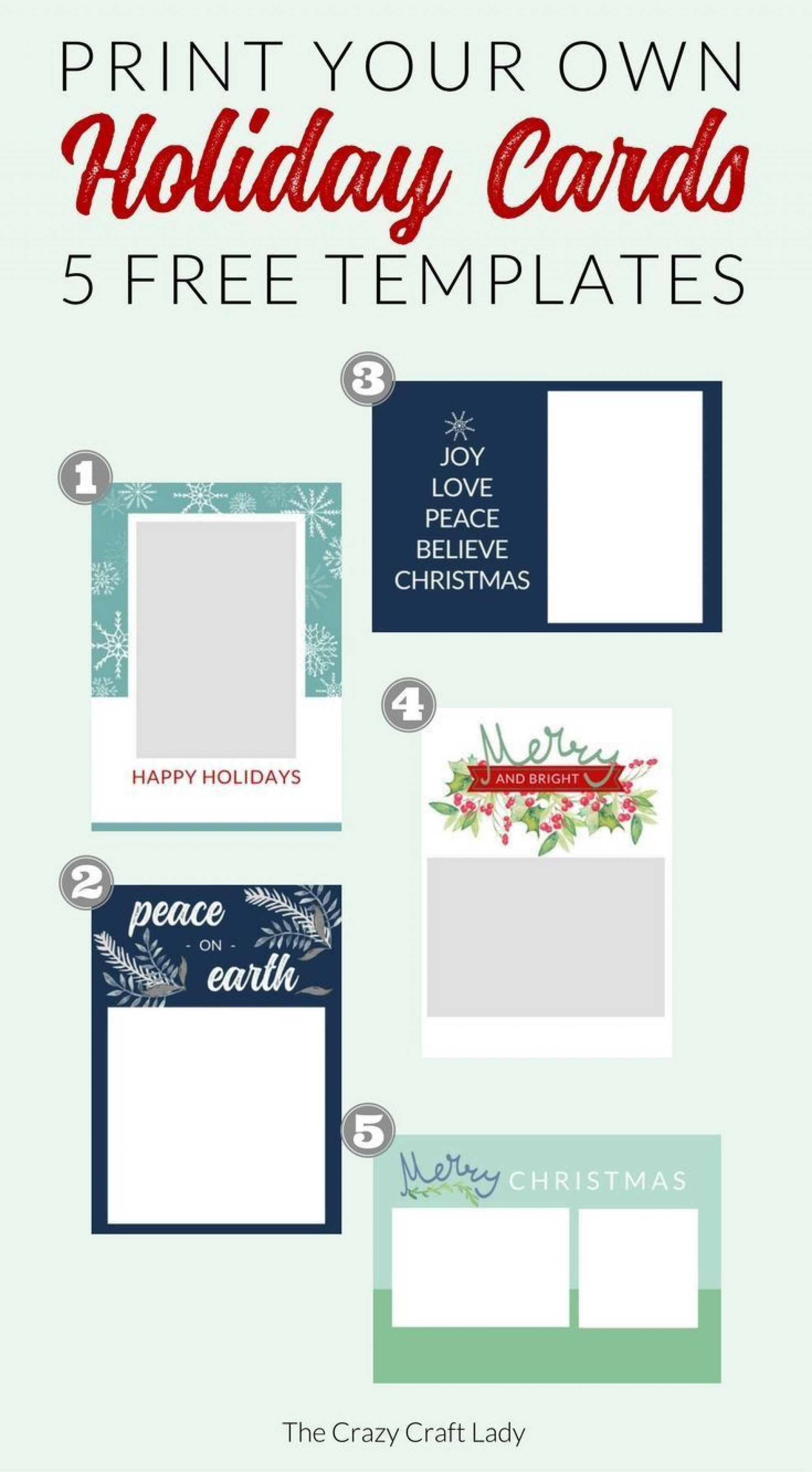 000 Stunning Free Holiday Card Template Photo  Templates Printable For Word1920