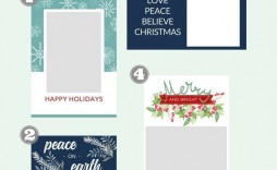 000 Stunning Free Holiday Card Template Photo  Templates Printable For Word
