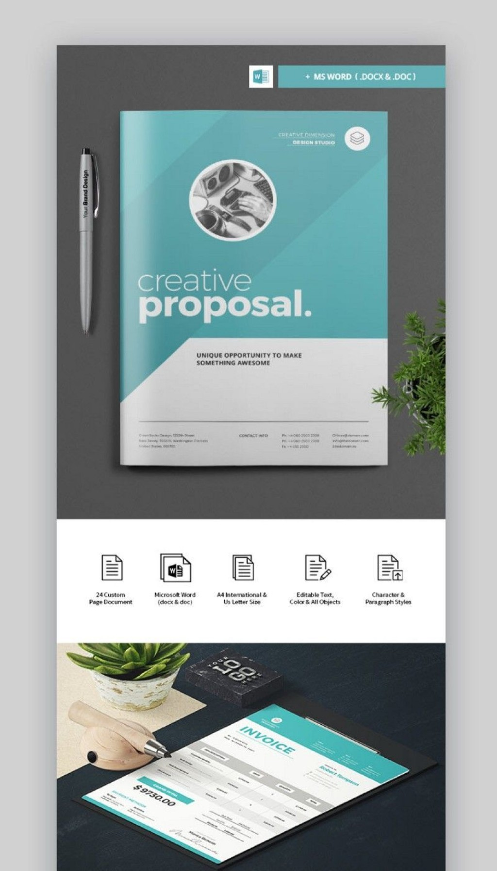 000 Stunning Graphic Design Proposal Template Word Concept Large