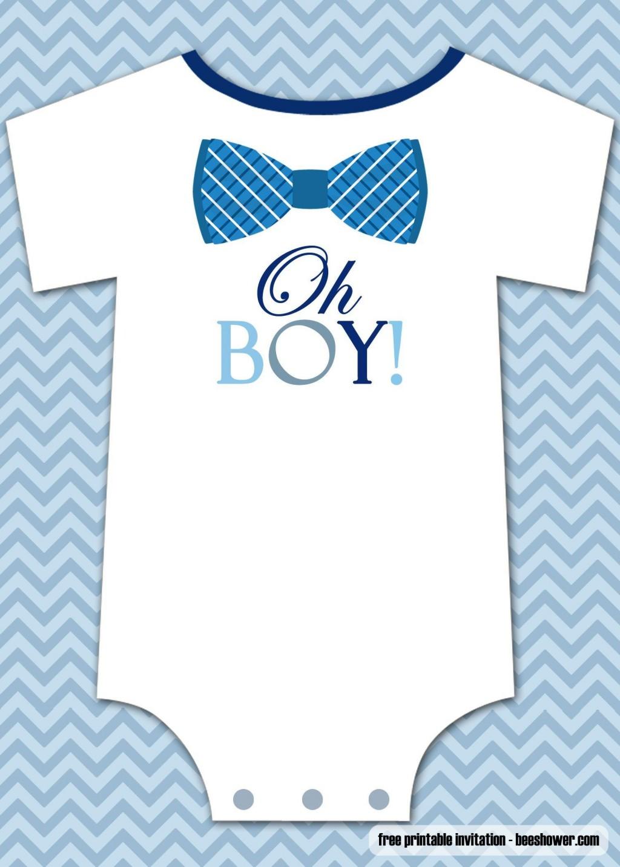 000 Stunning Onesie Baby Shower Invitation Template Inspiration  FreeLarge