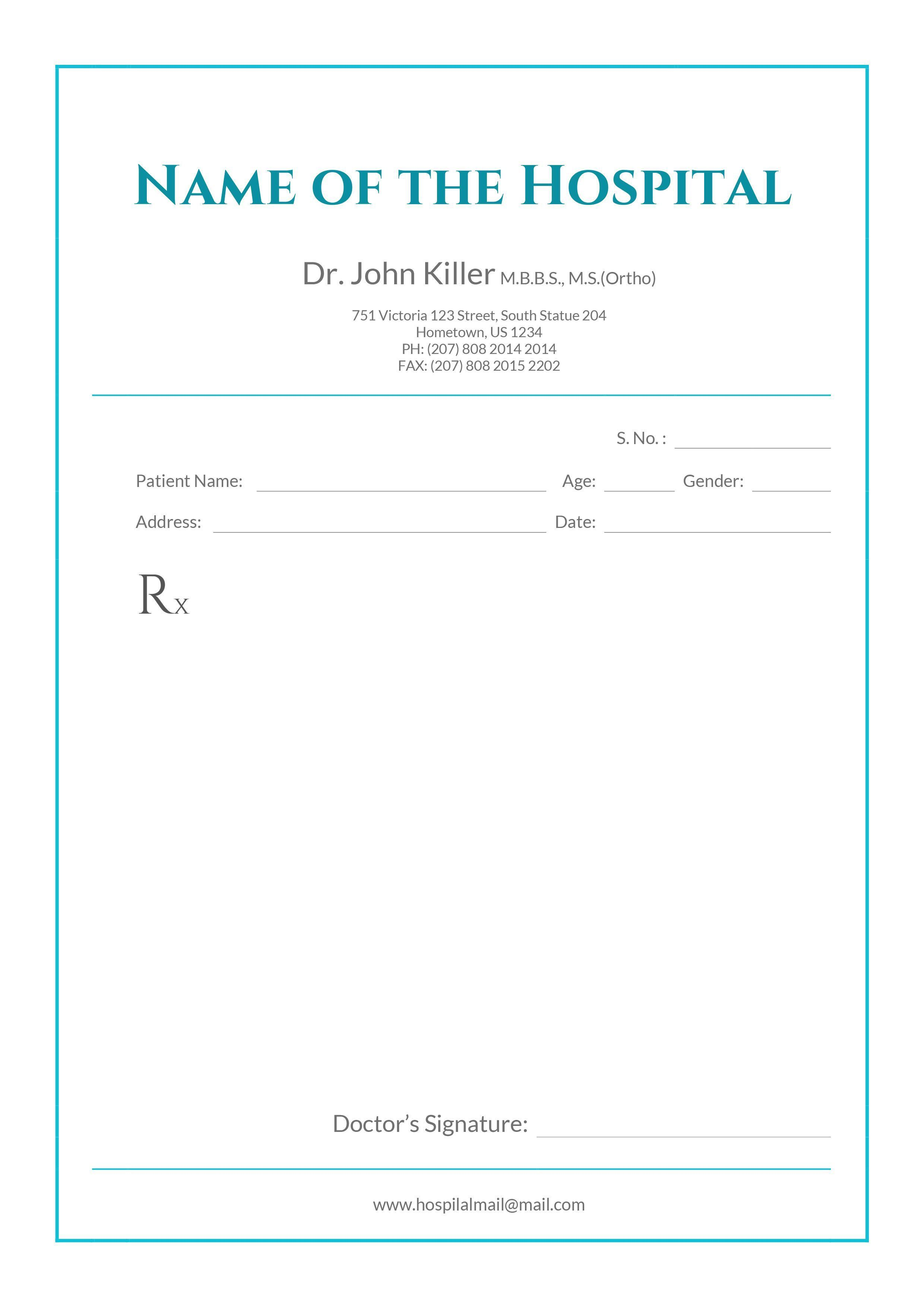 Prescription Label Template Download from www.addictionary.org