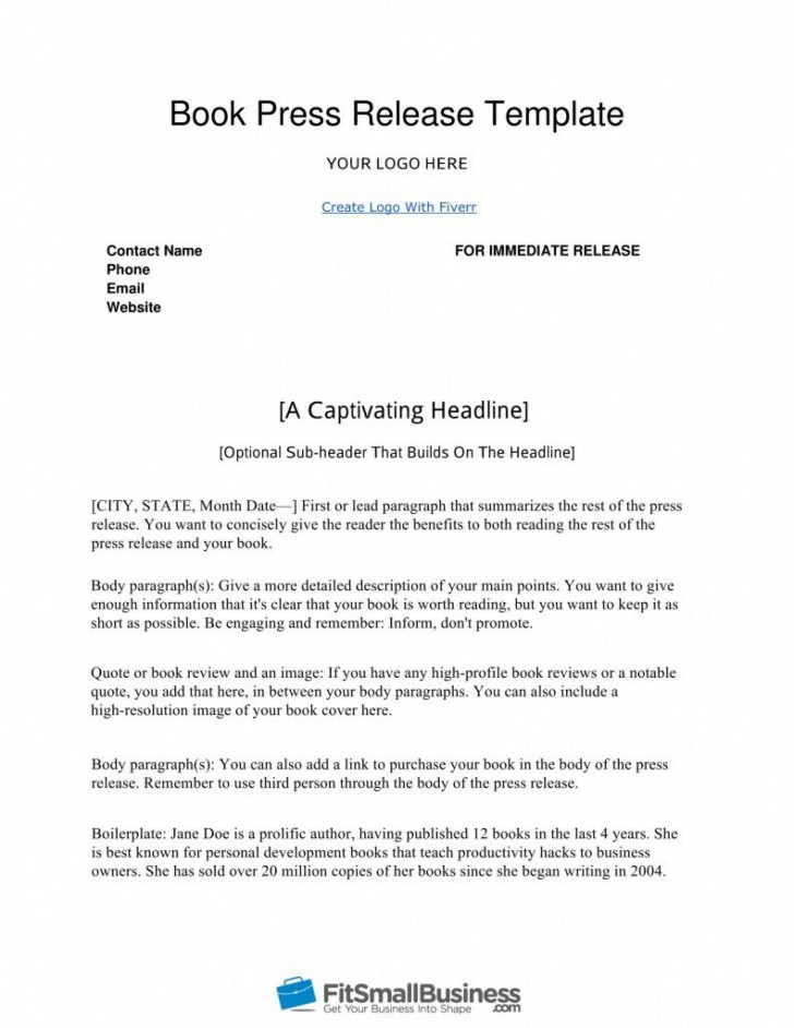 000 Stunning Pres Release Template Free High Definition  Google Doc Download728