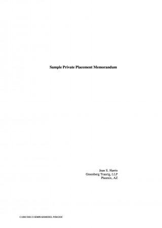 000 Stunning Private Placement Memorandum Template Word Highest Clarity 320
