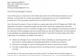 000 Stunning Sale Cover Letter Template Example  Account Manager Word Rep