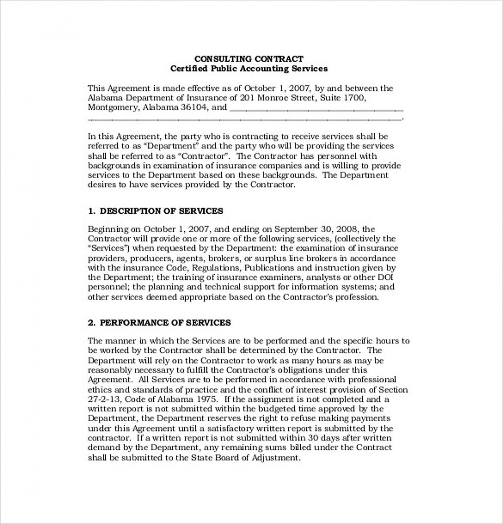000 Stunning Simple Consulting Agreement Template Picture  Free Uk Pdf1920