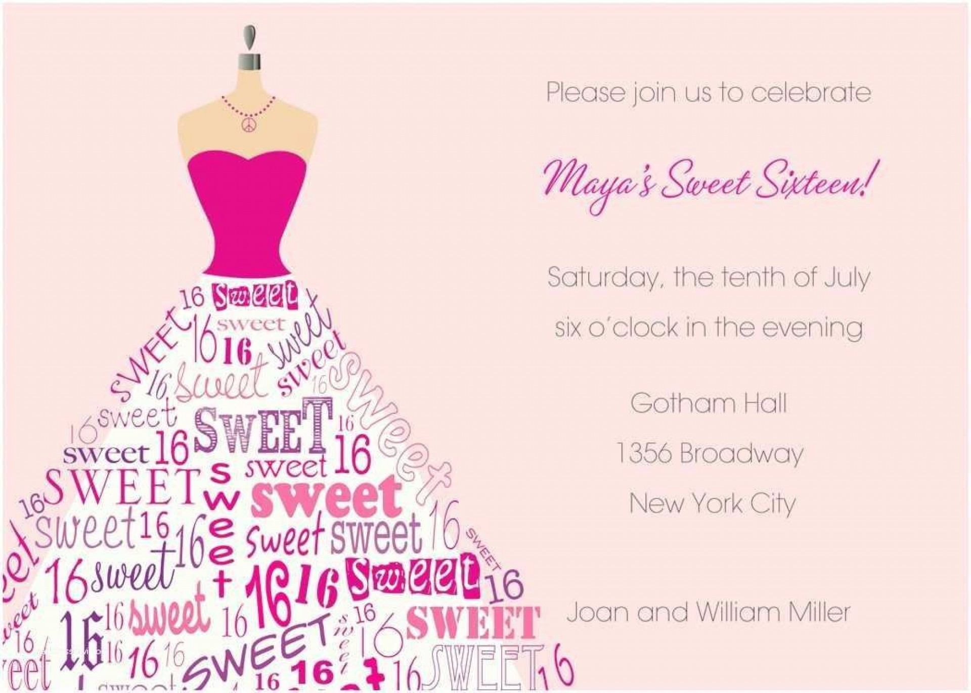 000 Stunning Sweet Sixteen Invitation Template Photo  Templates Blue 16 Party Free1920