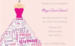 000 Stunning Sweet Sixteen Invitation Template Photo  Templates Blue 16 Party Free