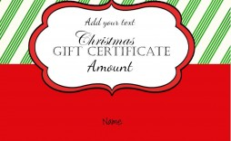 000 Stunning Template For Christma Gift Card Image  Word Certificate Sample