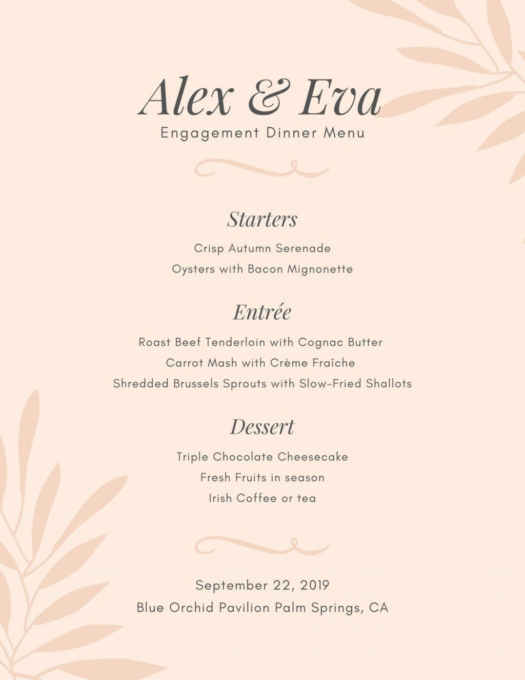 000 Stupendou Dinner Party Menu Template Highest Clarity  Word Elegant Free Google DocLarge