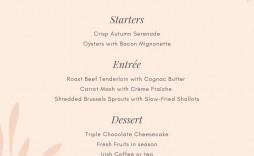 000 Stupendou Dinner Party Menu Template Highest Clarity  Word Elegant Free Google Doc
