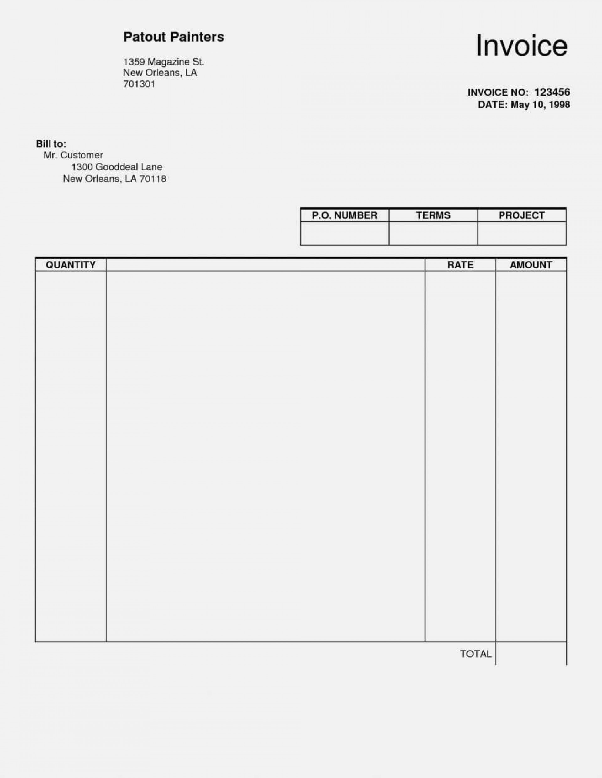 000 Stupendou Free Blank Invoice Template Highest Quality  Download Excel Printable Receipt Pdf Downloadable1920