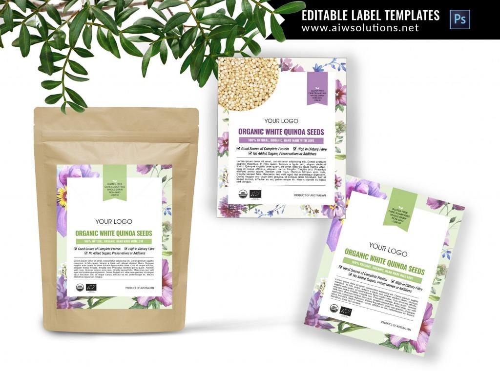 000 Stupendou Free Food Label Design Template Inspiration  Templates DownloadLarge