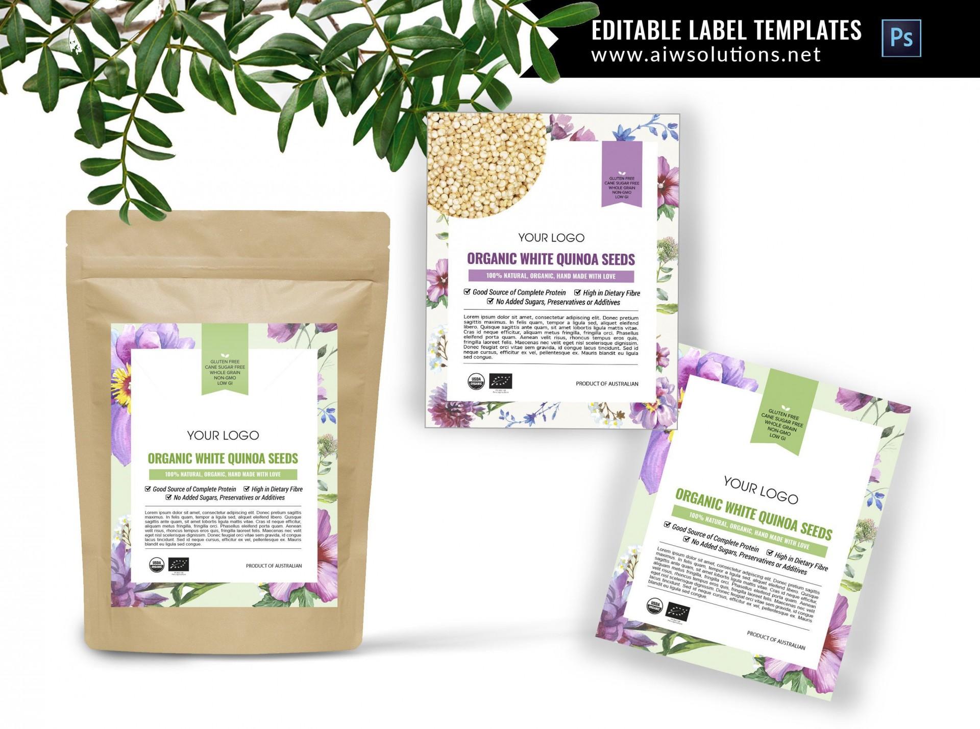 000 Stupendou Free Food Label Design Template Inspiration  Templates Download1920