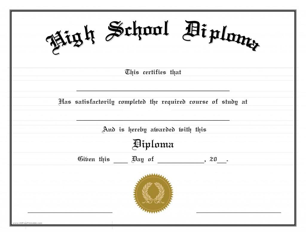 000 Stupendou Free High School Diploma Template Example  Templates Print Out Editable PrintableLarge