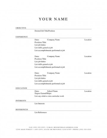 000 Stupendou Free Simple Resume Template Microsoft Word Picture 360