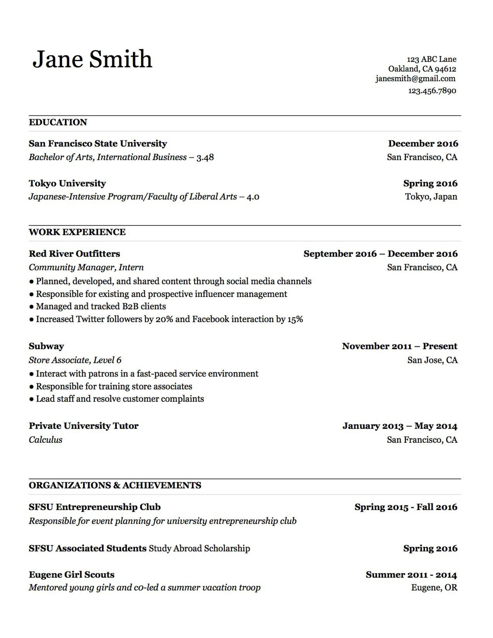 000 Stupendou Make A Resume Template Example  Create For Free How To Good1920