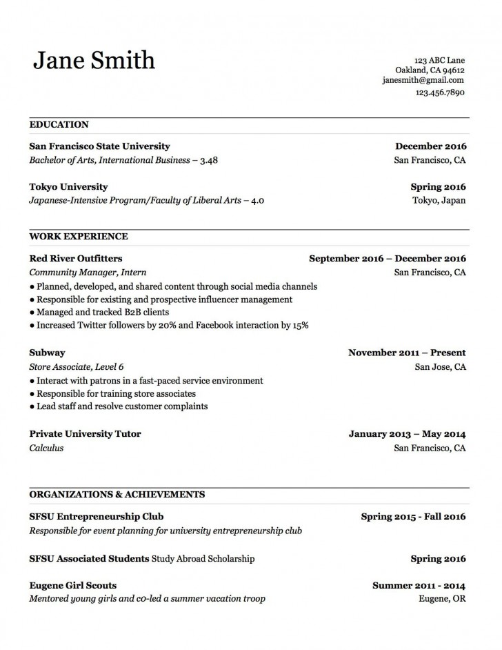 000 Stupendou Make A Resume Template Example  Create For Free How To Good728