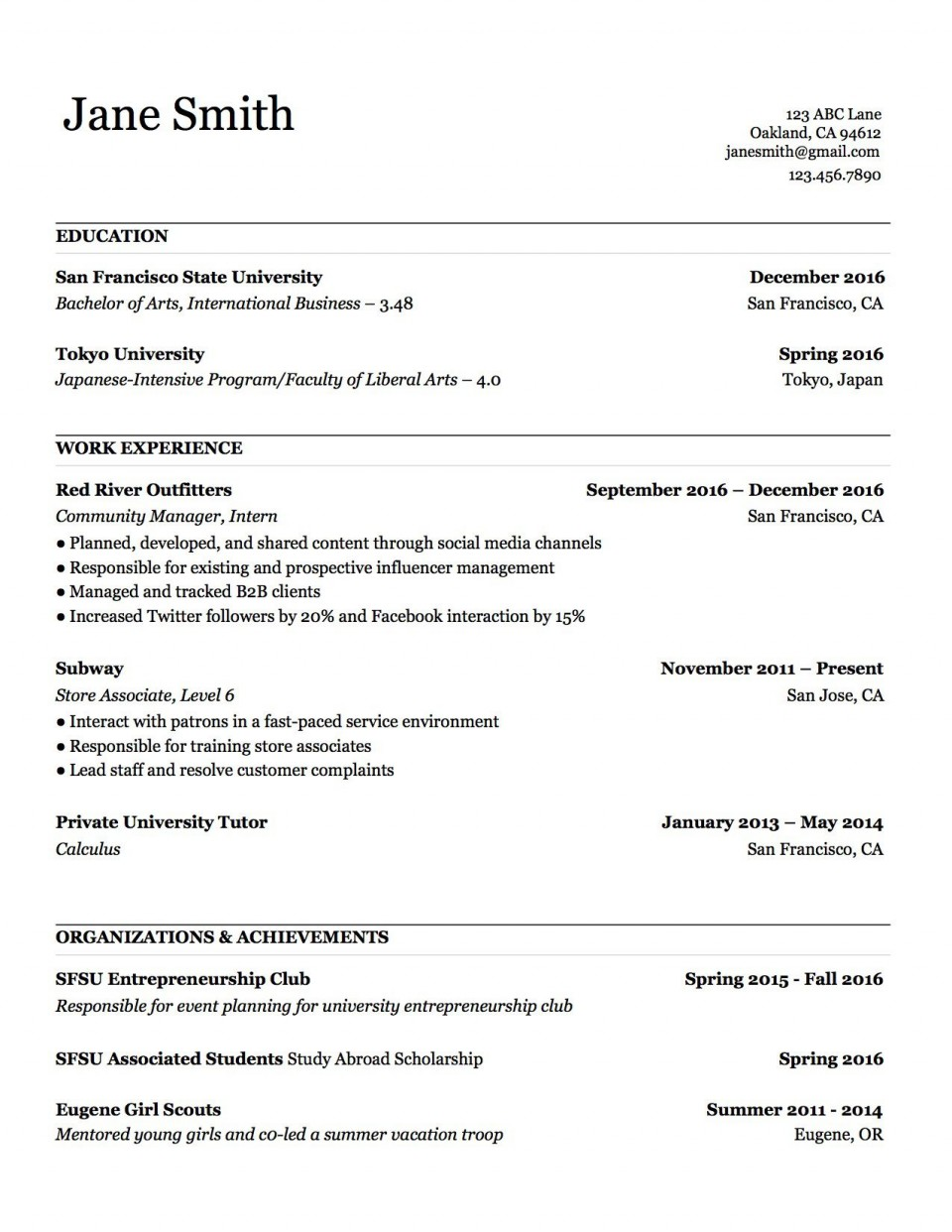 000 Stupendou Make A Resume Template Example  Create For Free How To Good960