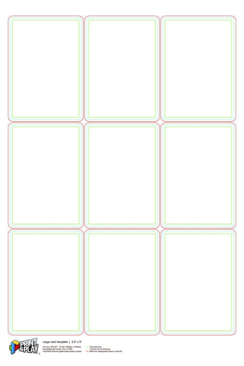 000 Stupendou Playing Card Size Template Idea  Game StandardLarge