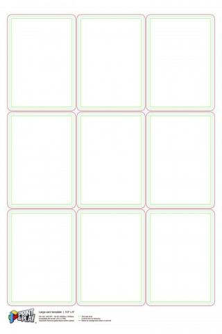 000 Stupendou Playing Card Size Template Idea  Game Standard320
