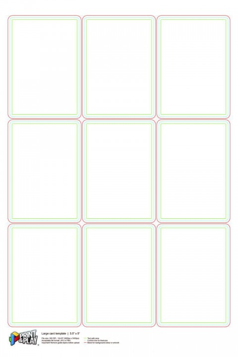 000 Stupendou Playing Card Size Template Idea  Game Standard480