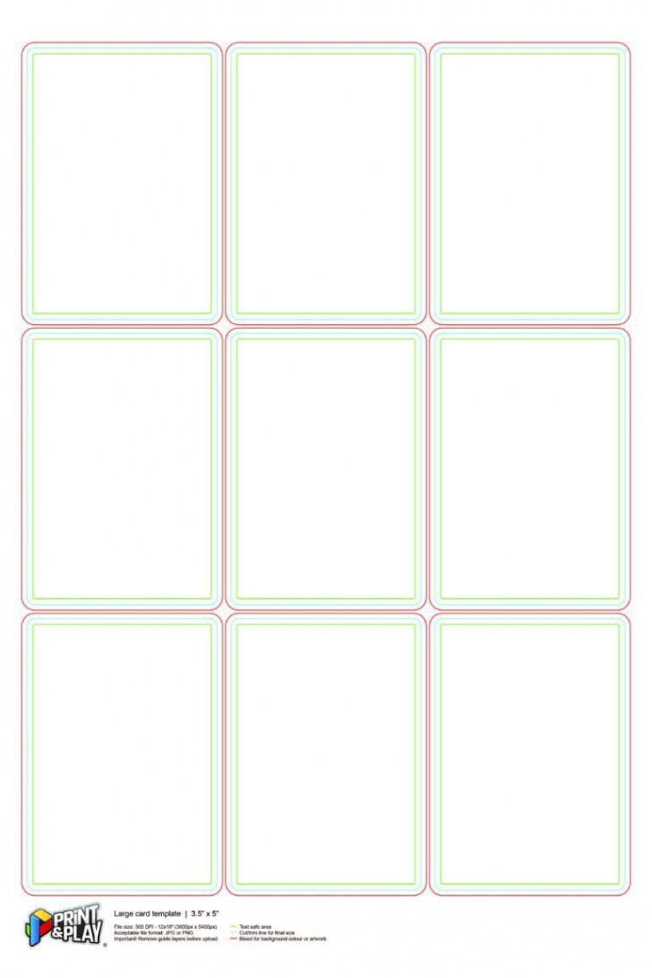 000 Stupendou Playing Card Size Template Idea  Game Standard728