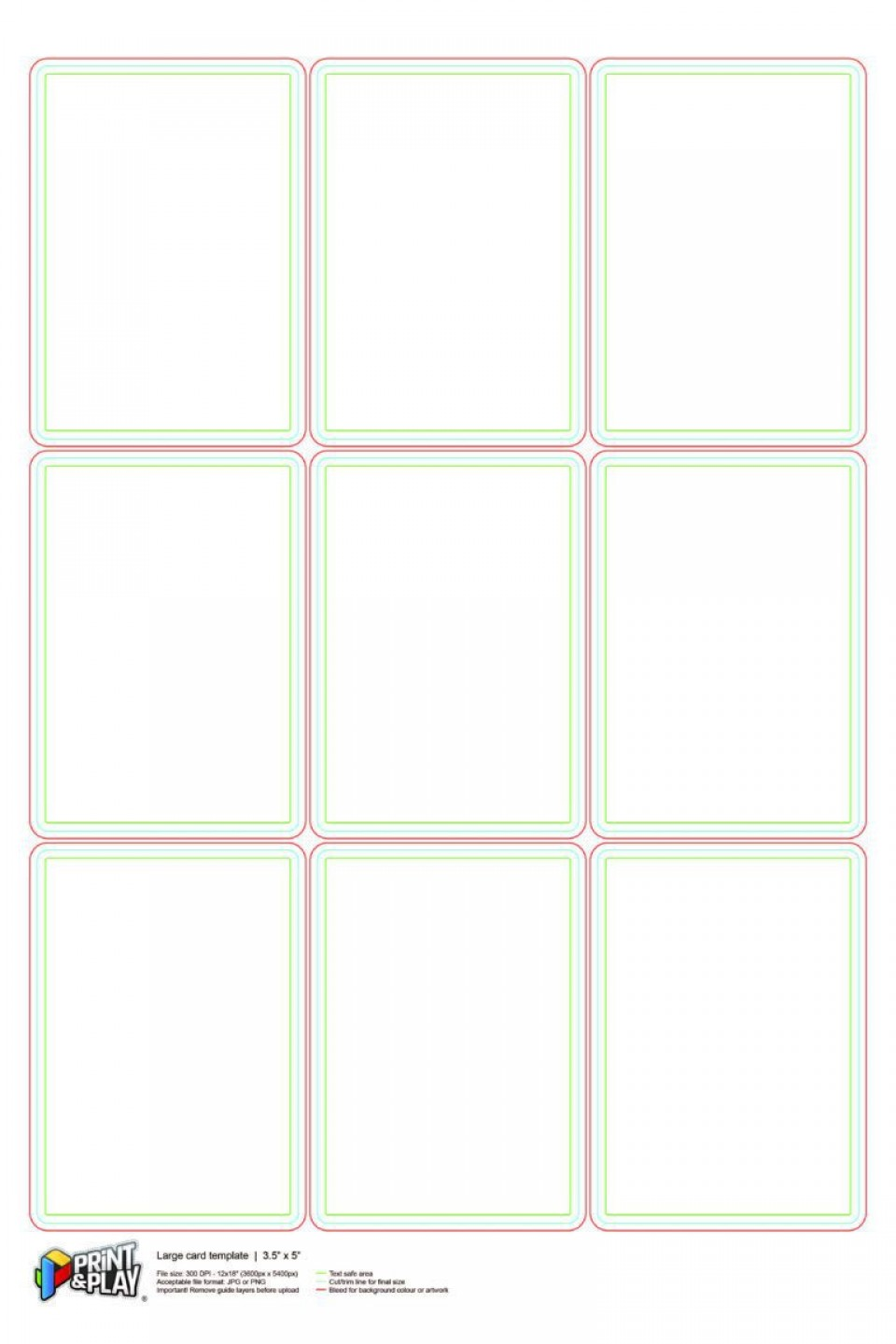 000 Stupendou Playing Card Size Template Idea  Game Standard960