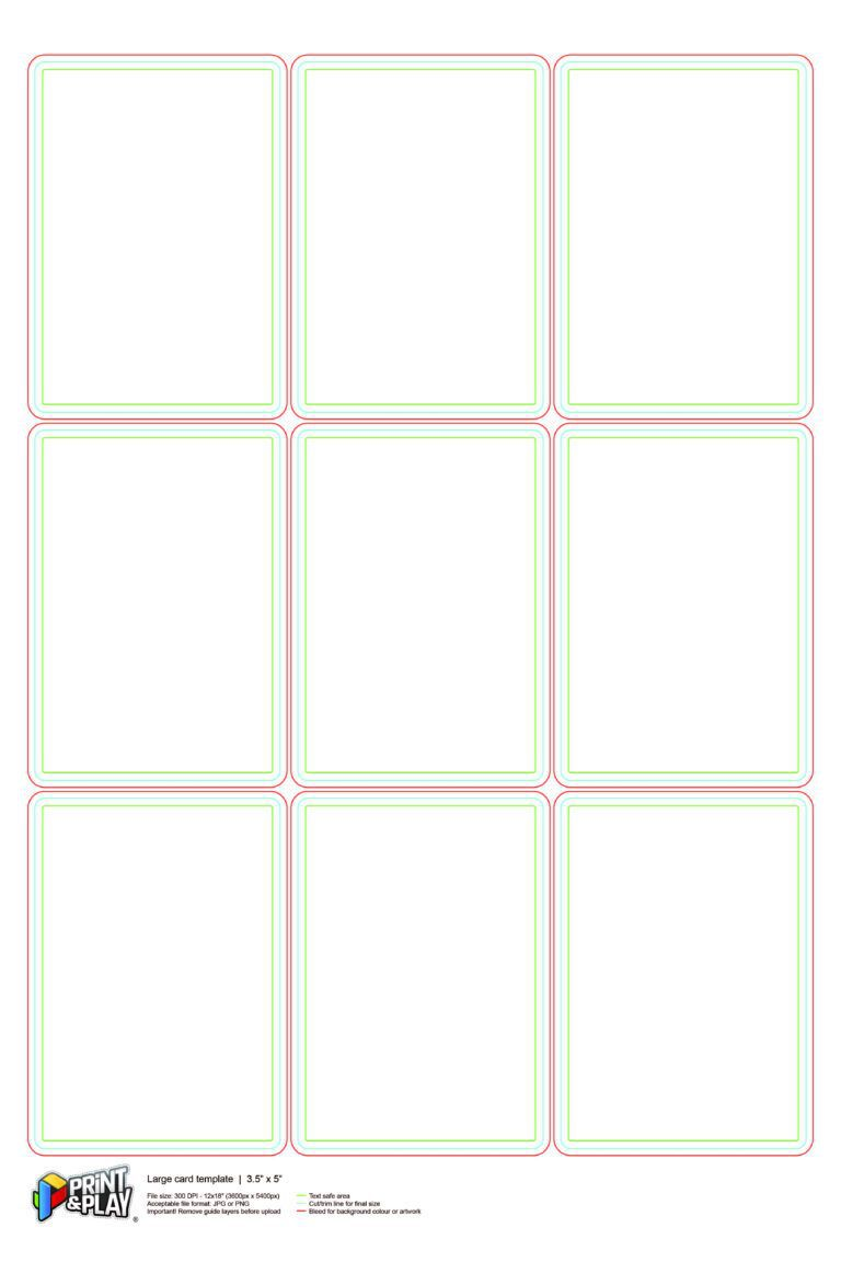 000 Stupendou Playing Card Size Template Idea  Game StandardFull