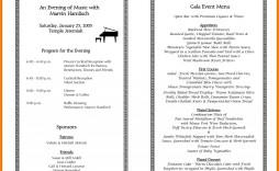 000 Stupendou Printable Event Program Template Concept  Free Download