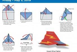 000 Stupendou Printable Paper Airplane Folding Instruction Sample