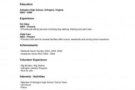 000 Stupendou Resume Template High School Student Resolution  Sample First Job