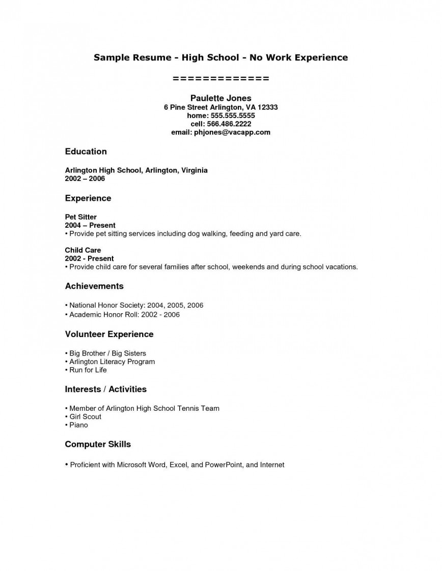 000 Stupendou Resume Template High School Student Resolution  Sample First Job868