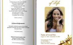 000 Stupendou Sample Template For Funeral Program Concept