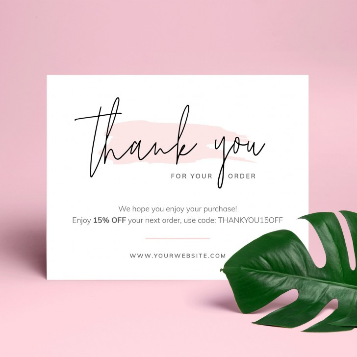 000 Stupendou Thank You Note Template Free Printable Highest Quality 728