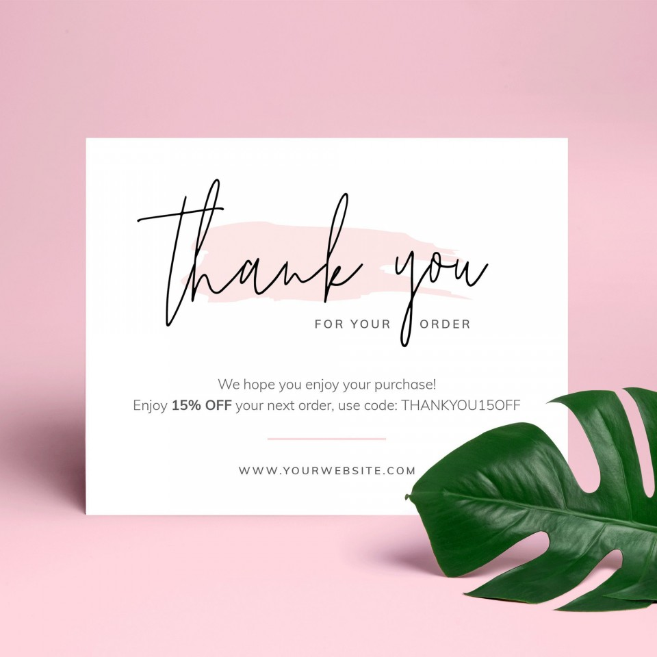 000 Stupendou Thank You Note Template Free Printable Highest Quality 960