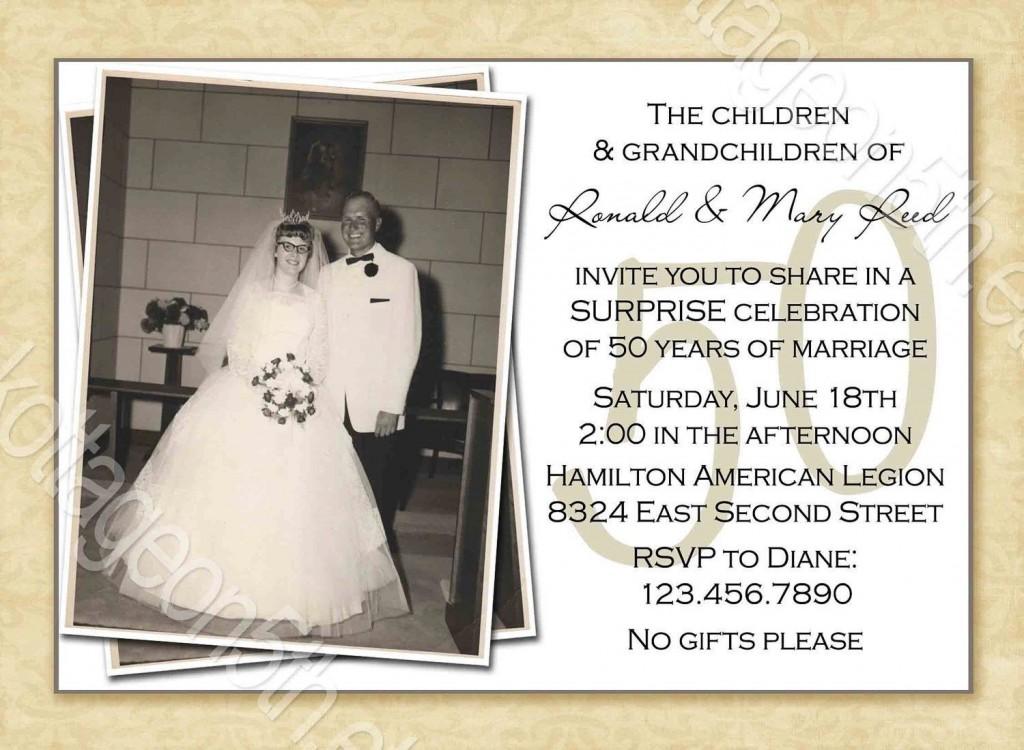 000 Surprising 50th Anniversary Invitation Template Free Download Picture  Golden WeddingLarge