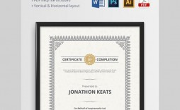 000 Surprising Certificate Template For Word Inspiration  Award 2007 M