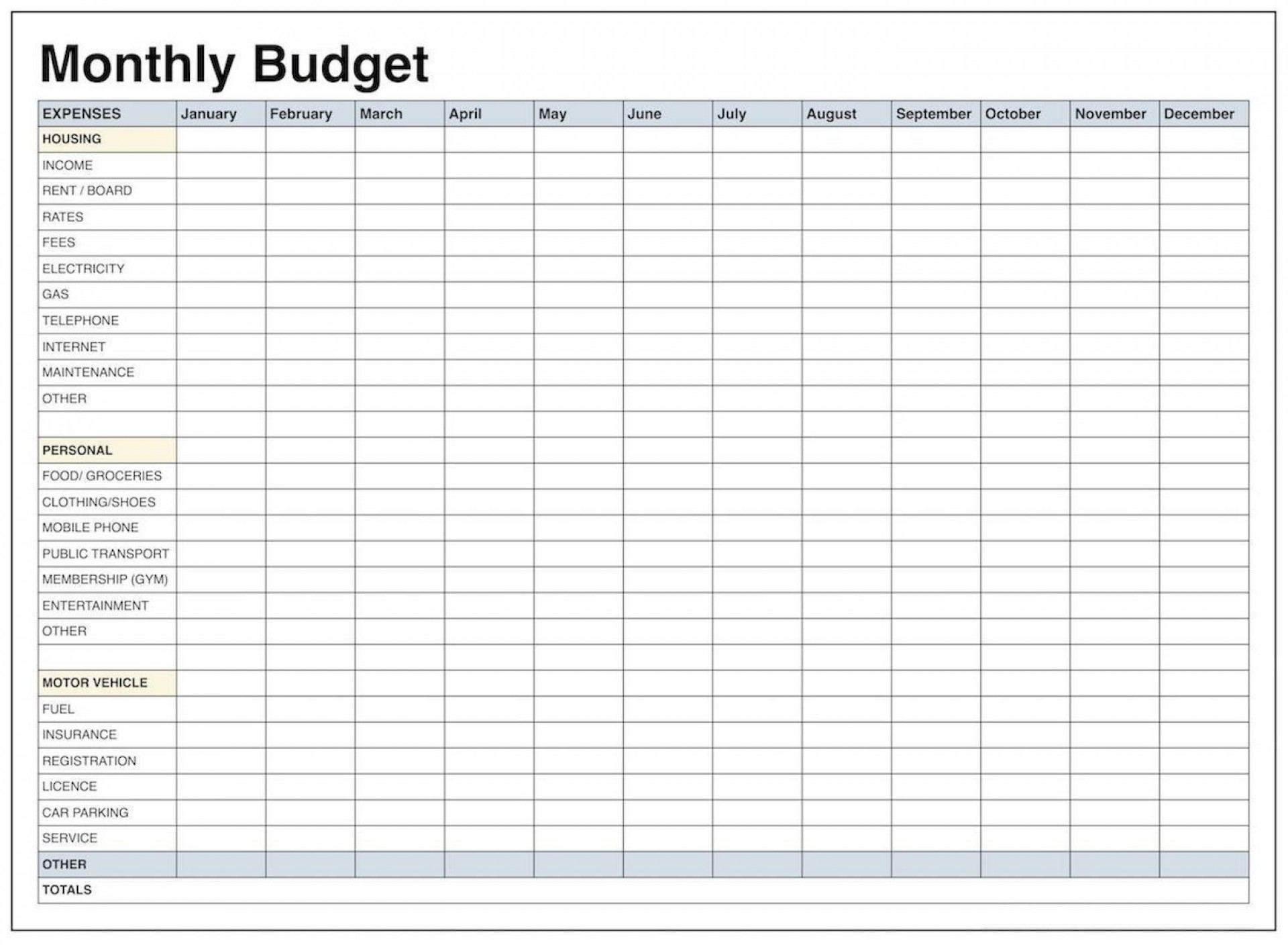 000 Surprising Free Printable Blank Monthly Budget Sheet High Resolution  Sheets Worksheet Template1920