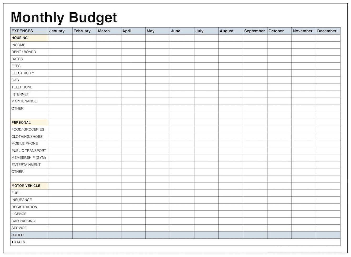 000 Surprising Free Printable Blank Monthly Budget Sheet High Resolution  Sheets Worksheet TemplateFull