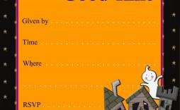 000 Surprising Halloween Party Invite Template Design  Templates - Free Printable Spooky Invitation Birthday