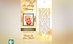 000 Surprising In Loving Memory Bookmark Template Free Download High Def