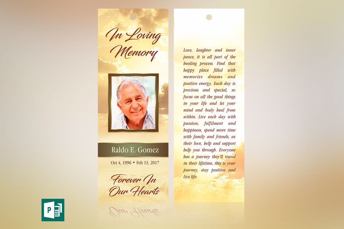 000 Surprising In Loving Memory Bookmark Template Free Download High Def Full