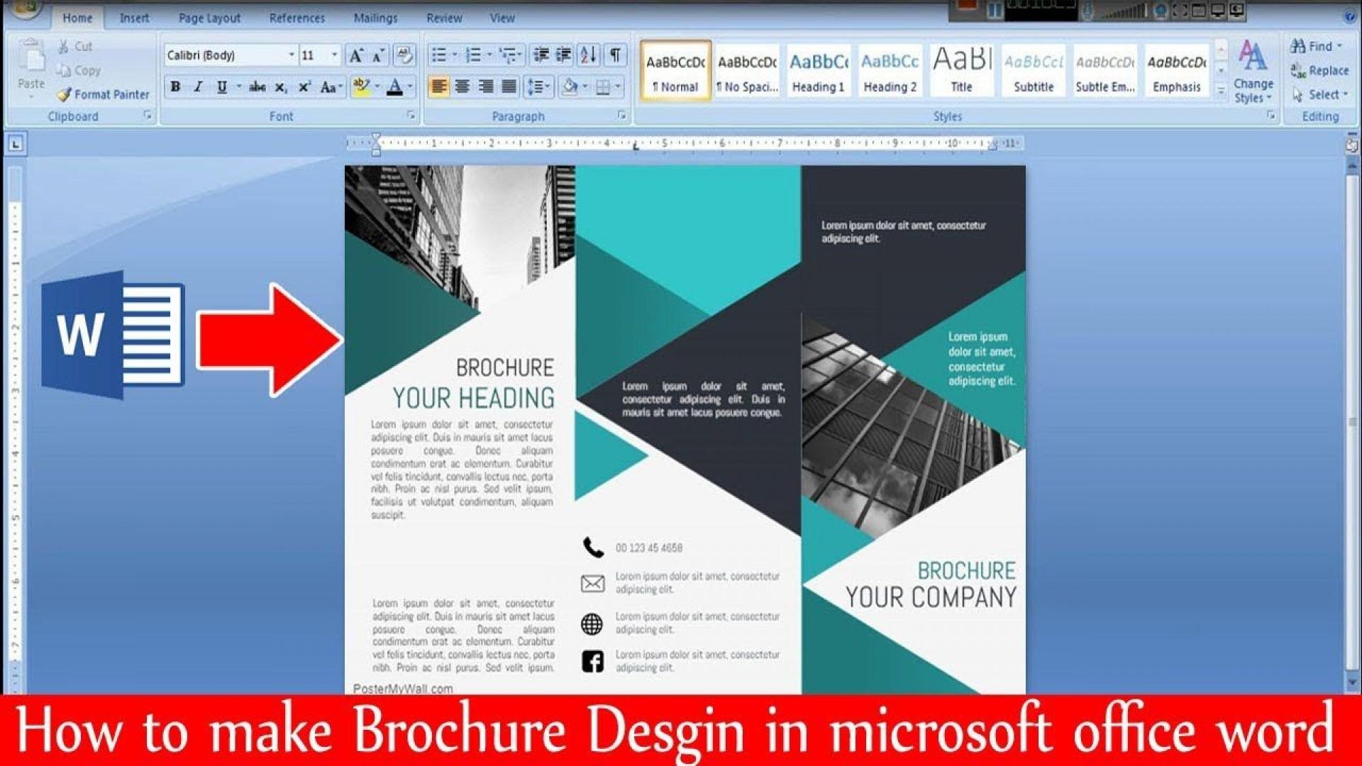 000 Surprising M Word Brochure Format Inspiration  Template Download Microsoft1920