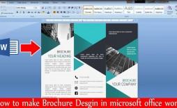 000 Surprising M Word Brochure Format Inspiration  Template Download Microsoft