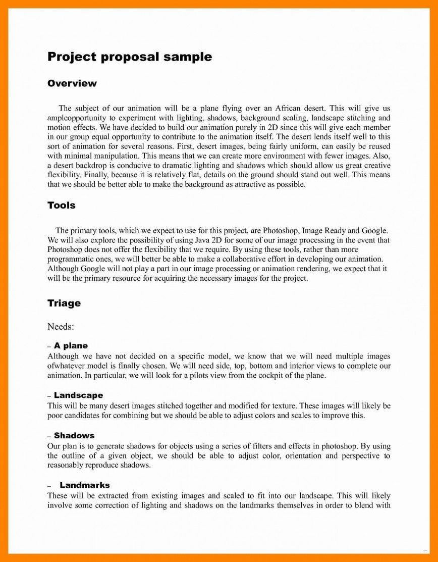 000 Surprising Research Project Proposal Example Pdf Idea  Format Template