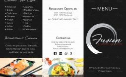 000 Surprising Tri Fold Take Out Menu Template Free Word Highest Quality