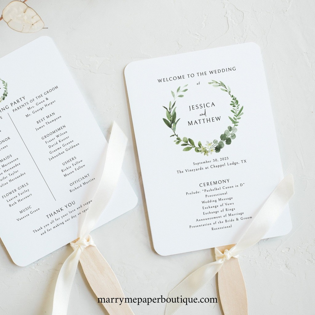 000 Surprising Wedding Program Fan Template High Resolution  Free Word Paddle Downloadable That Can Be PrintedLarge