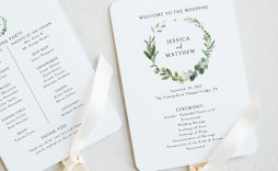 000 Surprising Wedding Program Fan Template High Resolution  Free Word Paddle Downloadable That Can Be Printed