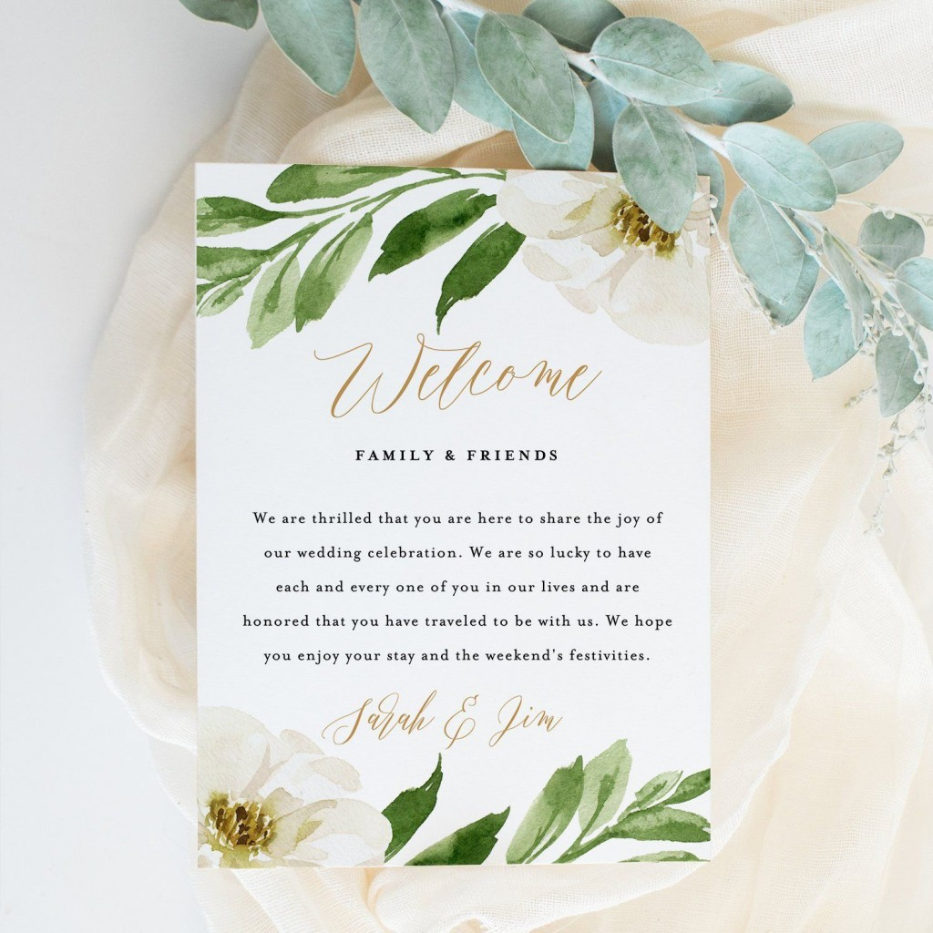 000 Surprising Wedding Welcome Letter Template Download High Definition Large